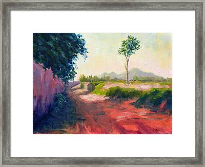 A Countryside Road Framed Print