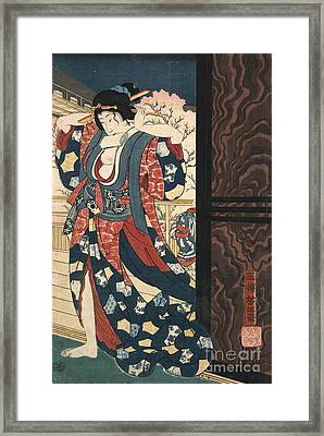A Courtesan Fixing Her Hair Framed Print by Padre Art