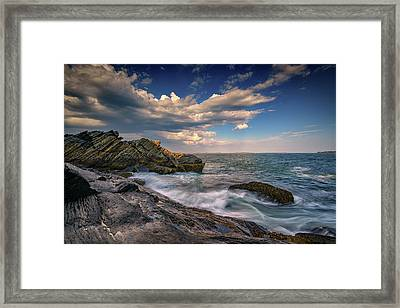 A Cove On Muscongus Bay Framed Print by Rick Berk