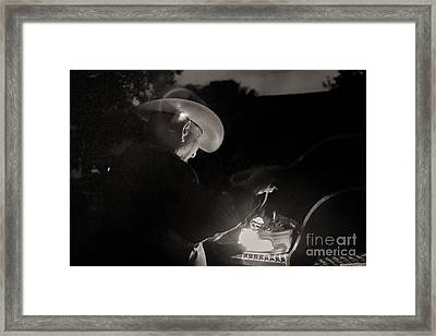 A Cowboys Dinner Framed Print