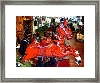 A Cowboy's Horse Framed Print by Mexicolors Art Photography