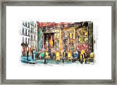A Cozy Bistro In Paris Framed Print