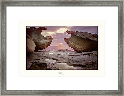 A Crab Stone, By The Cosmic Joker Framed Print