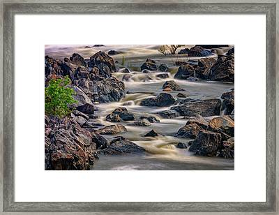 A Creek To The Side Framed Print by Rick Berk