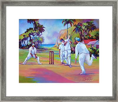 A Cricket Game Framed Print