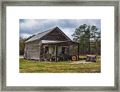 A Crooked Little Barn Framed Print by Christopher Holmes