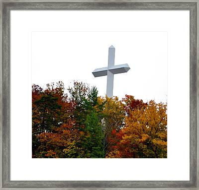 A Cross In Tennessee Framed Print by Brittany H