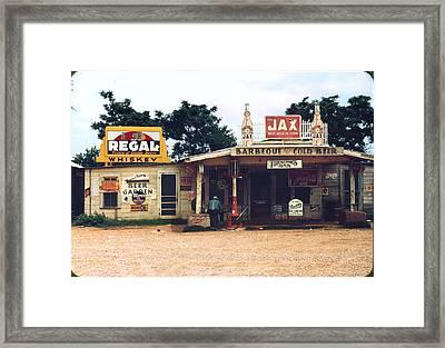 A Cross Roads Store, Bar, Juke Joint Framed Print by Everett