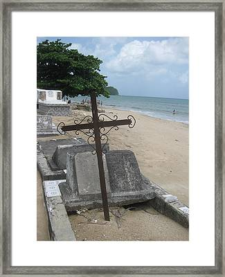 A Cross To Bear Framed Print by Robert Margetts