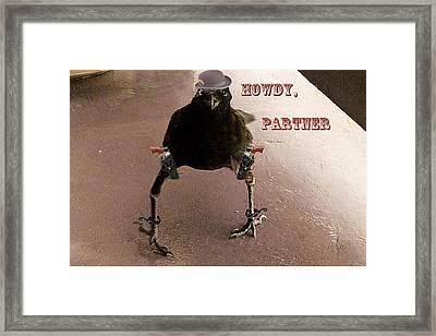 A Crow Named Dude Framed Print