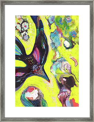 A Crows Dream - Ss18dw019 Framed Print by Satomi Sugimoto