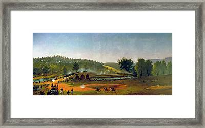 A Crucial Delay - Antietam Framed Print