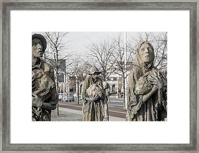 A Cruel World The Famine Sculpture Framed Print