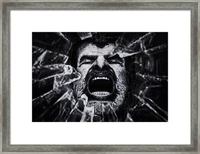 A Cry From The Dark Side Framed Print by Piet Flour