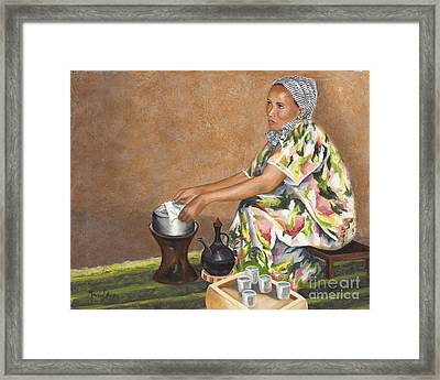 A Cup Full Of Grace Framed Print by Marcia Davis