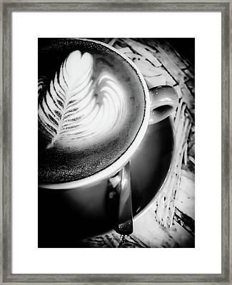 A Cup Of Latte Framed Print by Tom Gowanlock