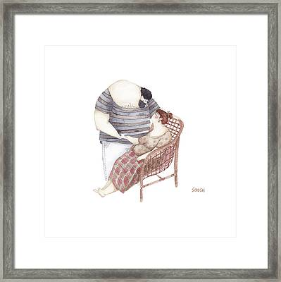 A Cup Of Love Tea Framed Print by Soosh