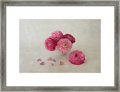 A Cup Of Spring Framed Print