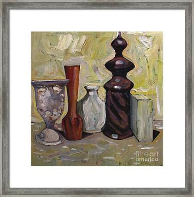 A Cup Of Woe Framed Print by Charlie Spear