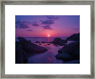 A Cypriot Sunset Framed Print