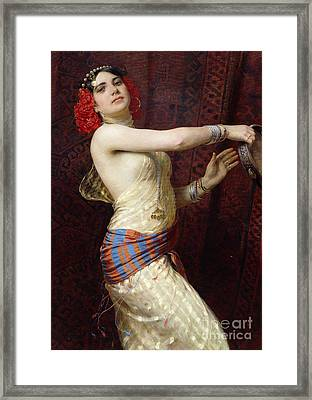A Damascan Dancer Framed Print by Otto Pilny