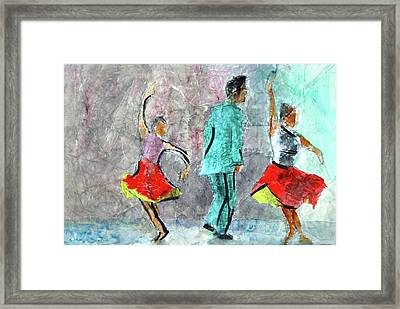 A Dance For Three Framed Print by Donna Crosby