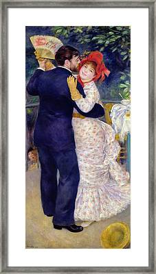 A Dance In The Country Framed Print by Pierre Auguste Renoir