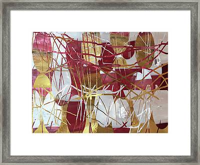 A Dance Of Rubies And Old Gold Framed Print