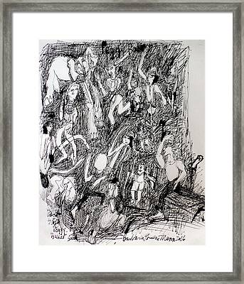 A Dance Party Framed Print by Barb Greene mann
