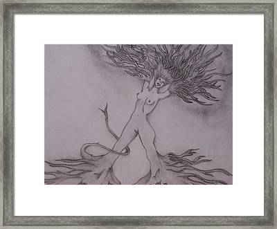 A Dance With The Wind Framed Print by Erin Hope