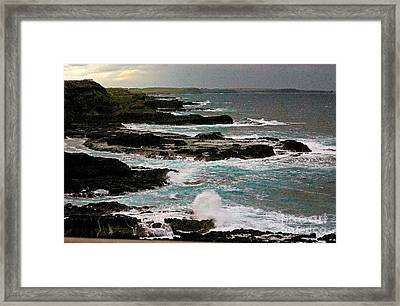 A Dangerous Coastline Framed Print by Blair Stuart