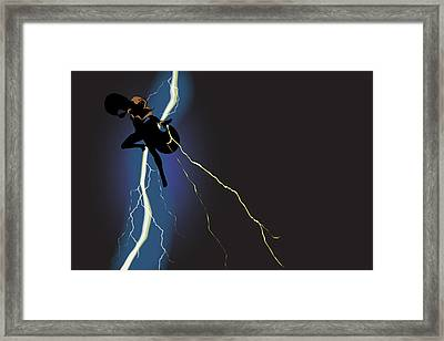 A Dark And Stormy Knight Returns Framed Print by Paul T Plale