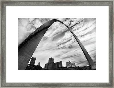 A Dark Saint Louis Skyline - The Arch Framed Print