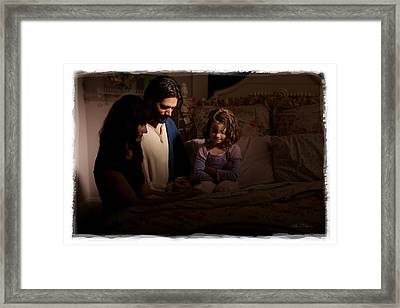 A Daughter's Prayer Framed Print by Helen Thomas Robson