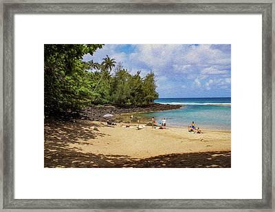 A Day At Ke'e Beach Framed Print