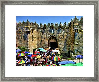 A Day At The  Bazaar Framed Print by Douglas Barnard