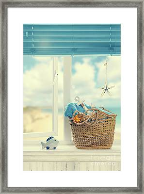 A Day At The Beach Framed Print by Amanda Elwell