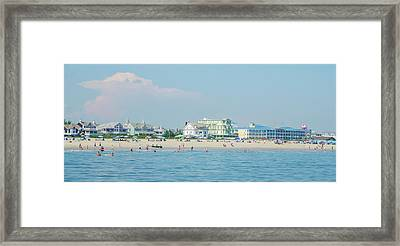 Framed Print featuring the photograph A Day At The Beach - Cape May New Jesey by Bill Cannon