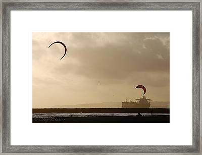 A Day At The Beach Framed Print by Clayton Bruster