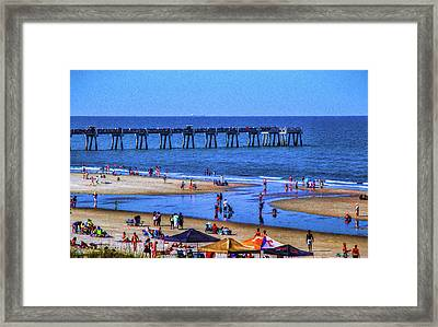 A Day At The Beach Framed Print by Dave Bosse
