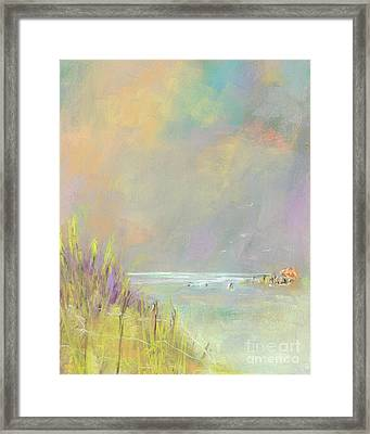A Day At The Beach Framed Print by Frances Marino