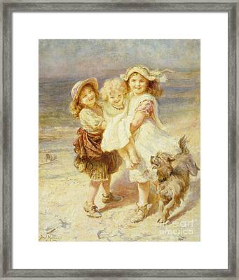 A Day At The Beach Framed Print by Frederick Morgan