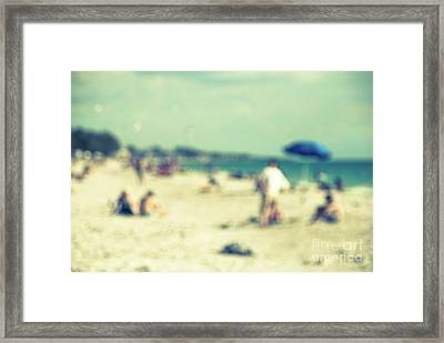 Framed Print featuring the photograph a day at the beach I by Hannes Cmarits