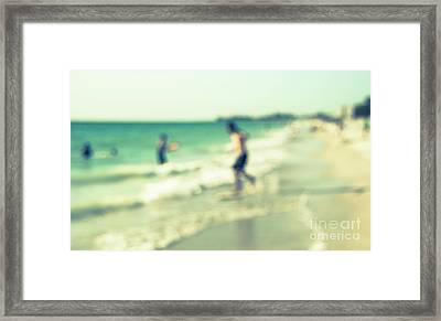 Framed Print featuring the photograph a day at the beach III by Hannes Cmarits