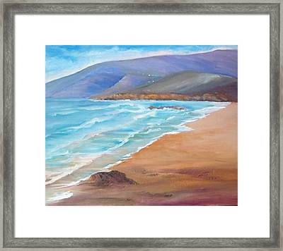 A Day At The Beach Framed Print by Isabel Alfarrobinha