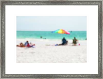 Framed Print featuring the photograph a day at the beach IV by Hannes Cmarits