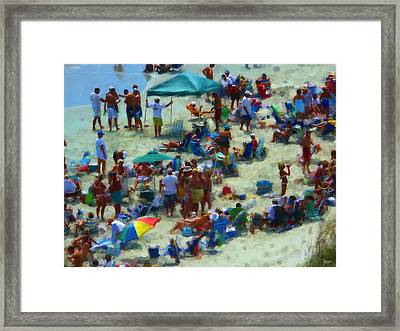 A Day At The Beach Framed Print by Jeff Breiman