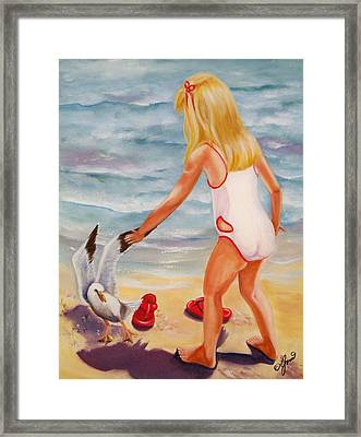 A Day At The Beach Framed Print by Joni McPherson