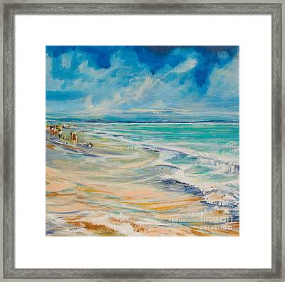 A Day At The Beach Framed Print by Michele Hollister - for Nancy Asbell