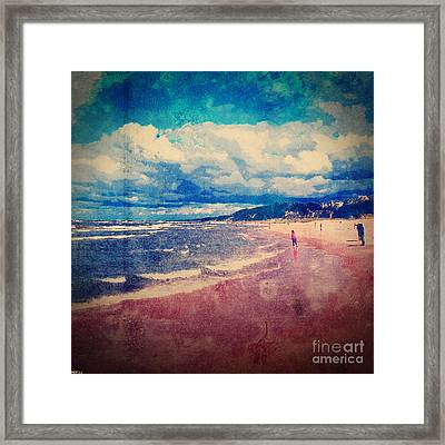 Framed Print featuring the photograph A Day At The Beach by Phil Perkins